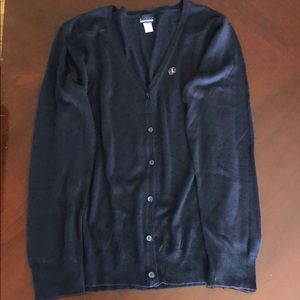 Navy blue button up cardigan